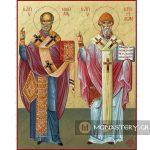 εικονα αγιος νικολαος και σπυριδων